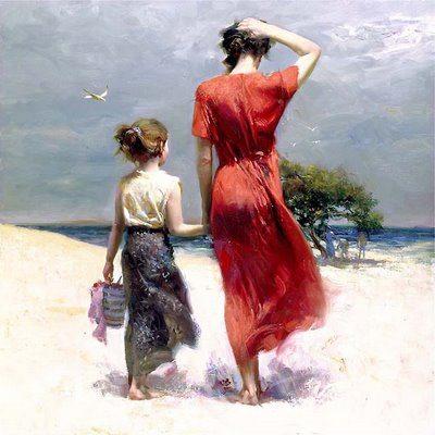 Vintage mother & daughter